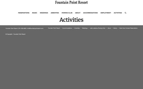 Activities – Fountain Point Resort