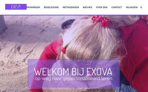 Screenshot of Home Page exova.nl - Home - EXOVA - captured Sept. 26, 2018