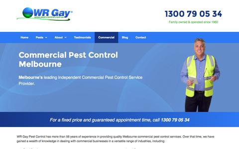 Commercial Pest Control in Melbourne, VIC | WR Gay