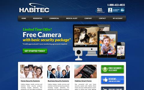 Screenshot of Home Page Privacy Page habitecsecurity.com - Home Security Systems & Alarm Products by Habitec Security - captured Oct. 1, 2014