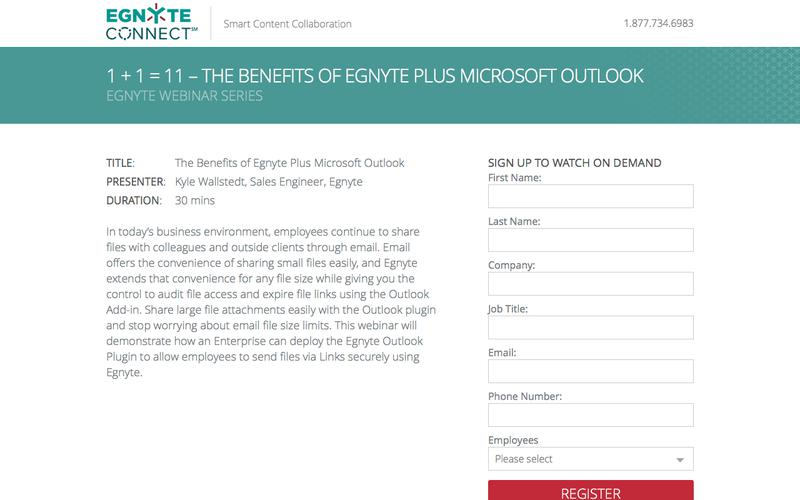 Webinar Replay: The Benefits of Egnyte Plus Microsoft Outlook