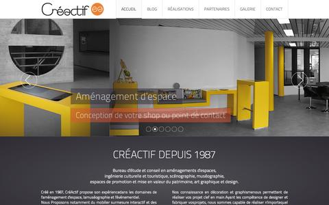 Screenshot of Home Page creactif.ch - Accueil - captured Sept. 30, 2014