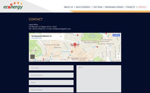 Screenshot of Contact Page econergytech.com - Contact - Econergy Systems Ltd. - captured July 15, 2017