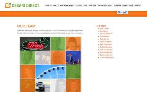 Screenshot of Team Page cesaridirect.com - Our team - captured Sept. 29, 2014