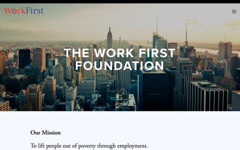 Screenshot of Home Page theworkfirstfoundation.org - The Work First Foundation - captured Sept. 21, 2018