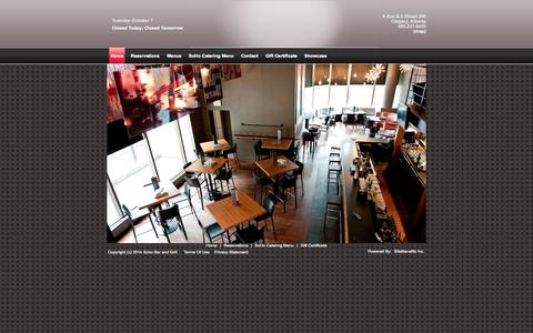 Screenshot of Terms Page sohobargrill.com - Home Splash - captured Oct. 7, 2014