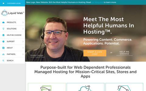 Screenshot of Home Page liquidweb.com - Managed Dedicated Server Hosting & Managed VPS Services | LiquidWeb - captured Aug. 15, 2017
