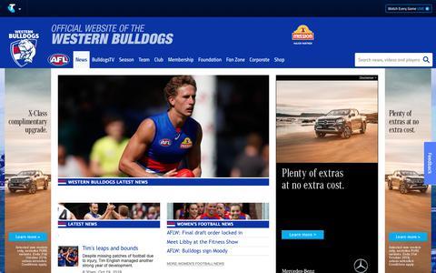 Screenshot of Press Page westernbulldogs.com.au - News - westernbulldogs.com.au - captured Oct. 19, 2018
