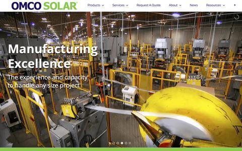 Screenshot of Home Page omcosolar.com - Solar Racking Utility Scale Solar OMCOSolar - Omco Solar - captured Nov. 17, 2018