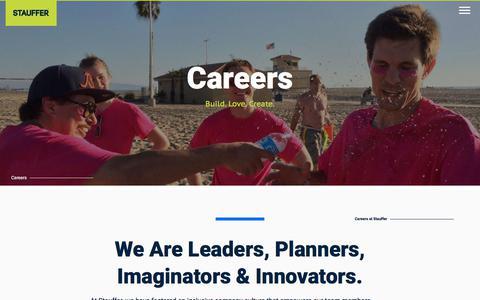 Screenshot of Jobs Page stauffer.com - Careers | Stauffer - Your Los Angeles Drupal Team - captured Sept. 22, 2018