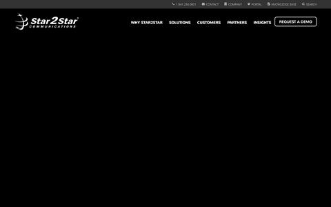 Screenshot of Home Page star2star.com - Star2Star: World's Most Scalable Cloud Communications Solution - captured Dec. 11, 2015