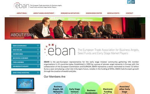 Screenshot of About Page eban.org - EBAN - captured Oct. 31, 2014