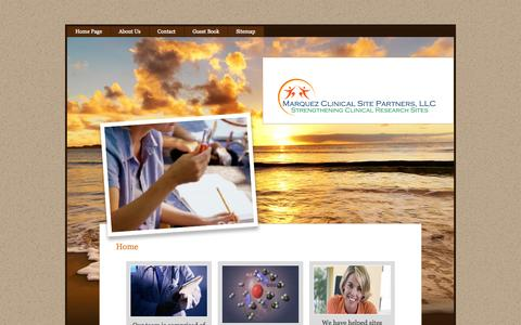 Screenshot of Home Page clinicalsitepartners.com - Home Page - captured Oct. 3, 2014