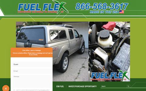 Screenshot of Contact Page fuelflexinternational.com - E85 conversion kits - e85 kits - ALCOHOL FUEL CONVERSION KITS - FLEX FUEL CONVERSIONS - Fuel Flex International, Full Flex International - Full Flex Gold and ECO Flex Platinum USA Distributor flex fuel - Pulstar pulse Spark Plugs - FLEX COMBUSTIBLE - captured Sept. 1, 2018