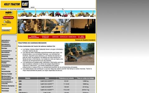 Screenshot of Landing Page kellytractor.com - Kelly Tractor Tractores de Cadenas Medianos - captured Aug. 12, 2016