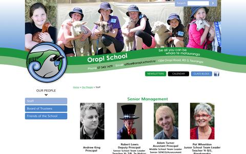 Screenshot of Team Page oropi.school.nz - Oropi School Staff - captured June 10, 2016