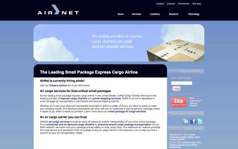 Screenshot of Home Page airnet.com - Air Cargo Airline | AirNet.com - captured Oct. 4, 2014