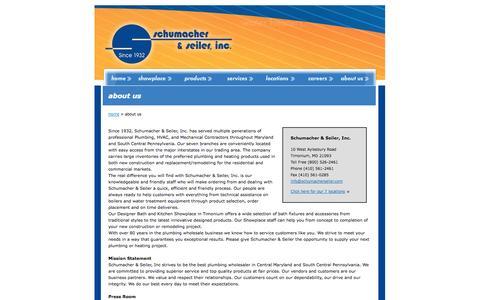 Screenshot of About Page schumacherseiler.com - Schumacher & Seiler - captured Oct. 1, 2014