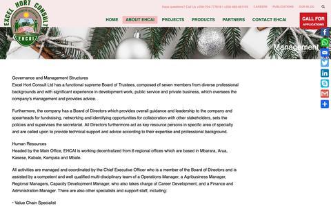 Screenshot of Team Page excelhort.com - Management » Excel Hort Consult Agribusiness Incubator - captured Dec. 16, 2018