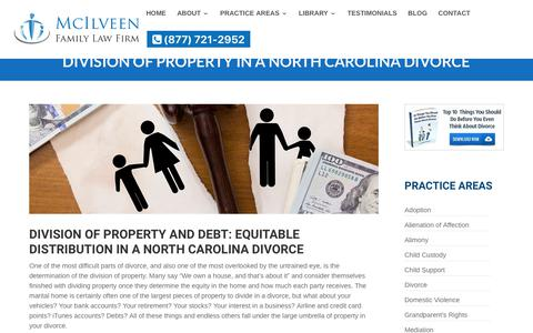 NC Equitable Distribution | McIlveen Family Law Firm