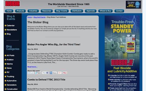 Screenshot of Blog biobor.com - Blog Biobor Fuel Additives - Blog And Events - captured Sept. 30, 2014