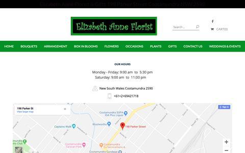 Screenshot of About Page elizabethanne.com.au - Elizabeth Anne Florist & Gifts - captured Dec. 3, 2018