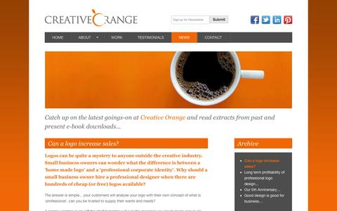 Screenshot of Press Page creativeorange.co.uk - Can a logo increase sales? - Creative Orange - captured Oct. 3, 2014