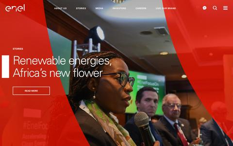 Screenshot of Home Page enel.com - Enel.com - The Portal on Energy and Sustainability - captured July 10, 2019