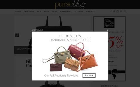 Screenshot of Home Page purseblog.com - PurseBlog - Designer Handbag Reviews and Shopping - captured Oct. 18, 2015