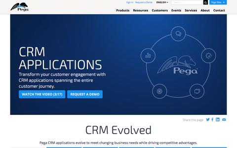 CRM Applications, Evolved for Customer Journeys | Pega