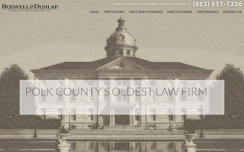 Screenshot of Home Page bosdun.com - Polk County Lawyers | Criminal Defense & Personal Injury - captured Nov. 23, 2016