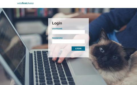 Screenshot of Login Page vetsfirstchoice.com captured March 30, 2018