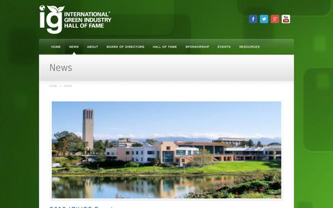 Screenshot of Press Page gogreenhall.org - News - captured Oct. 6, 2014