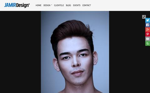 Screenshot of Home Page jamirdesign.com - Headshots | JAMIR Design - captured Sept. 4, 2015