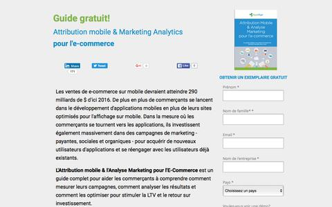Screenshot of Landing Page appsflyer.com - Attribution mobile & Marketing Analytics pour l'e-commerce - captured June 10, 2016