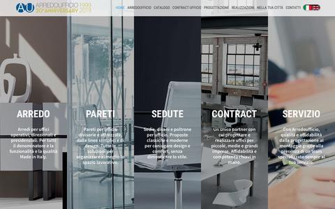 Screenshot of Home Page arredoufficio.com - Arredamento per ufficio - Mobili per ufficio - captured May 14, 2019