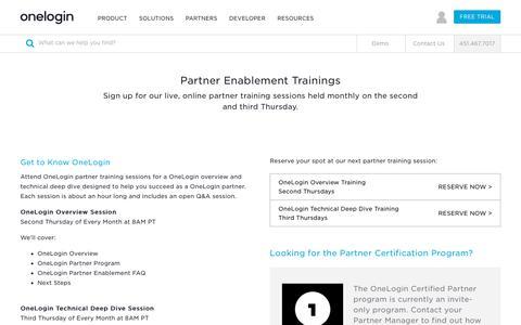 OneLogin Partner Training