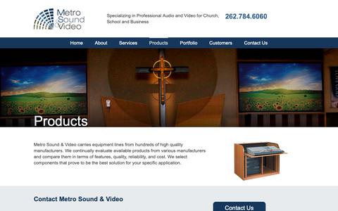 Screenshot of Products Page metro-sound.com - Metro Sound & Video Products | Custom Audio & Video Solutions | Metro Sound & Video - captured Oct. 18, 2018