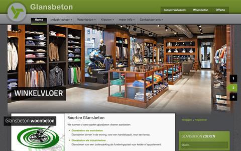 Screenshot of Home Page glansbeton.be - Glansbeton industrievloeren - captured Dec. 9, 2015