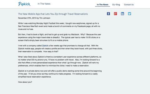 Screenshot of Press Page zipkick.com - Zipkick - captured Sept. 30, 2014
