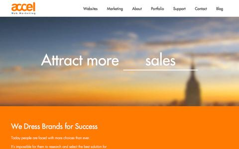 Screenshot of Home Page accelweb.ca - Accel Web Marketing - Websites, Online Campaigns, PPC - captured Sept. 11, 2015