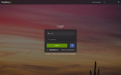 Screenshot of Login Page smugmug.com - Photo Sharing. Your Photos Look Better Here. - captured Jan. 27, 2016