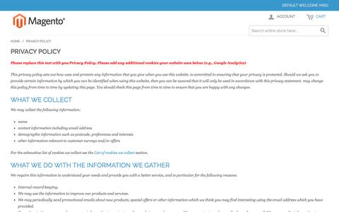 Screenshot of Privacy Page 76spots.com - Privacy Policy - captured Oct. 29, 2014