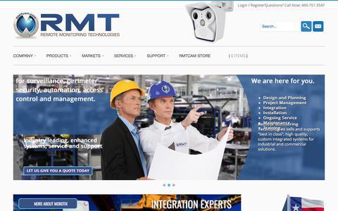 Screenshot of Home Page rmtcam.com - Remote Monitoring Technologies - RMTcam.com - captured Oct. 21, 2017