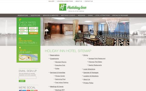 Screenshot of Site Map Page hirosslyn.com - Site Map | Holiday Inn Rosslyn - captured Oct. 2, 2014