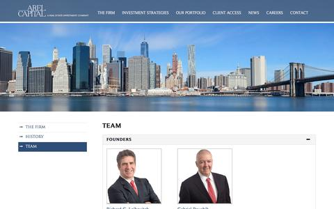 Screenshot of Team Page arelcapital.com - Team - Arel capital - captured July 30, 2018