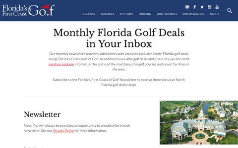 Screenshot of Signup Page florida-golf.org - Florida Golf Newsletter | Northeast Florida Golf Travel Guide - captured Nov. 14, 2018