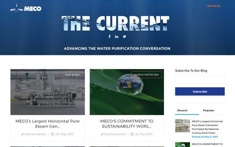 Screenshot of Blog meco.com - The Current - captured May 26, 2017