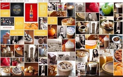 Screenshot of Home Page torani.com - Authentic Coffeehouse Flavor | Torani® - captured Sept. 24, 2014