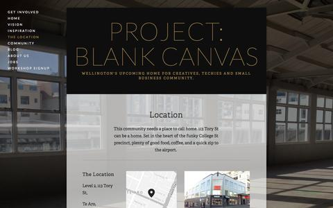 Screenshot of Locations Page projectblankcanvas.com - The Location — Project: Blank Canvas - captured Sept. 30, 2014